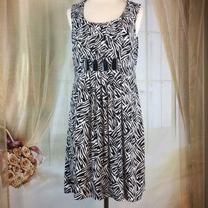 Enfocus Sleeveless Zebra Print Dress